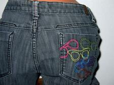 SKY Women's/Junior Colorful SUNGLASSES Embroidered Pockets SIZE 13/14 (32) Jeans