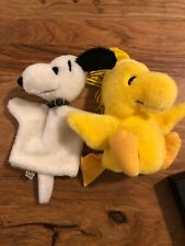 RARE Vintage 1968 SNOOPY Plush Hand Puppet And Dakin Woodstock Puppet Lot