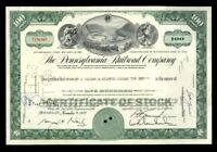 [70131] 1962 THE PENNSYLVANIA RAILROAD COMPANY STOCK CERTIFICATE 100 shares