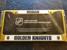 1 Las Vegas Golden Knights Gold Metal Vehicle License Plate Frame