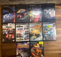 Lot Of 10 PS2 Playstation 2 Racing games (Grand Tourism 2&3 GTA San Andreas)