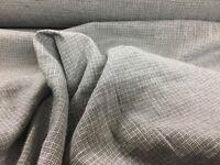 French Vintage Basket Weave  Stonewashed Linen Blue Curtain/Craft/Dress Fabric
