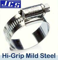 1 x JCS HI-GRIP HOSE CLIPS SIZE 100 ZINC PLATED 80-100mm JUBILEE TYPE 4X CLAMP