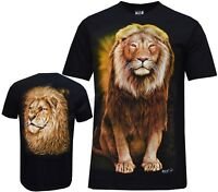 Lion Big Cat King Of The Jungle Pride Animal T-shirt Front & Back Print M - XXL