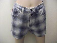 POP JEANS DENIM PLAID SHORTS~HOT PANTS~BOOTY SHORTS~SIZE 7/8~100% COTTON