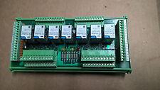 PLC SCHEDA ELETTRONICA 7 RELE 24VDC L105