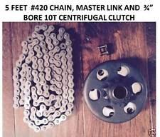 "Predator Engine 212cc Go Kart Centrifugal Clutch 3/4"" 10T 41/420 with 420 Chain"