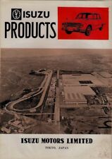 Isuzu Car Truck Bus 1964 Export Markets Foldout Sales Brochure In English