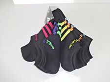 ADIDAS WOMENS SUPER LITE ATHLETIC NO SHOW SOCKS SIZE 9 to 11 6 PAIR BLACK