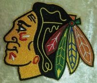 """Chicago Blackhawks 3.5"""" Iron On Embroidered Patch ~USA Seller~"""