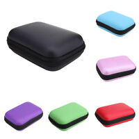 Mini Carrying Storage Bag Pouch Hard Case for Earphone Headphone Earbuds SD Card