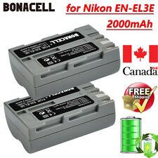 2X Replace Battery 2000mAh 7.2V Li-ion for Nikon EN-EL3E, Nikon D700 D300S D70s