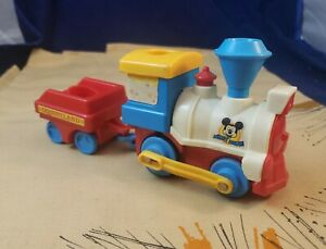 Vintage 1986 Playmates Disneyland Mickey Mouse Battery Operated Train - WORKS