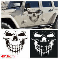 "Hood Decal Vinyl Sticker Skull Auto Car Tailgate Window 16"" Reflective SUV Truck"