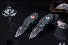 Multi Windproof Refill Butane Gas Black Cigarette Lighter Folding Knife New
