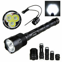 3800Lm 1mode 3x XML T6 LED Tactical 18650 Hunting Flashlight Torch Lamp Light