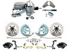 "1964-1972 Disc Brake Kit 9"" Chrome Booster Wilwood Front Black Calipers & Rotors"