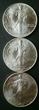 Lot of Three 1994 $1 American Silver Eagle Dollars