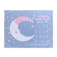 #QZO Cartoon Moon Little Stars Printed Newborn Baby Photography Blanket Props