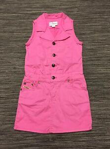 Diesel Girls Sleeveless Cotton Denim Dress In Pink 6 Years Excellent Condition