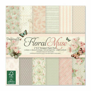 Dovecraft Floral Muse 6 x 6 Paper Pad - 72 Sheets 12 Designs 6 of Each New