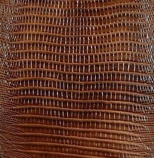 23 sf 2.5 oz Brown  Lizard Print Cow Hide Leather Skin   T17r