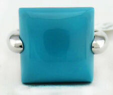 GENUINE 7.85 Cts TURQUOISE RING .925 STERLING SILVER * Brand New with Tag **