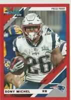 2019 Donruss Football Sony Michel Red Press Proof Variation New England Patriots