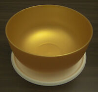 Tupperware Ergonomica Ergonomic 2,5 l Schüssel mit Deckel Gold Neu OVP