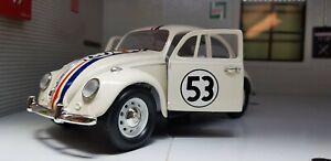 Herbie 53 Film Disney VW 1500 Beetle 1967 Car 1:24 Scale Diecast Detailed Model