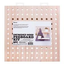 Darice Square Wooden Pegboard Kit, 9 pieces, #30053193