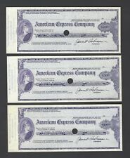 Unites State American Express Cheque 20-50-100$ Specimen Cheques
