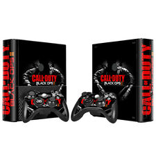 Xbox 360 E Console Skin Decal Sticker BO2 + 2 Controller Custom Design Set