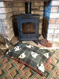 14...HANDMADE DOG BED COVER - MEDIUM - TARTAN CANVAS - COVER ONLY