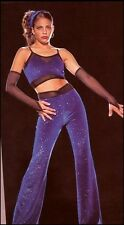 Hot Dance Costume Halter Top Glitter Pants Mitts Hip Hop Clearance Adult X-Large