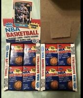 NBA WAX PACK LOT (1) PACKS FROM 1980-1995! JORDAN? BIRD? *RARE GREAT DEAL* READ!