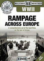 WWII: Rampage Across Europe (DVD, 2012, 4-Disc Set) Usually ships in 12 hours!!!