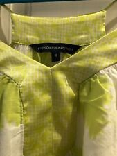 French Connection Green & White Swing Top, Size 8, VGC