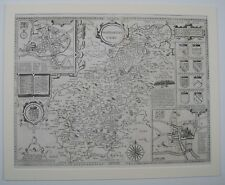 "John Speed Map of  Northamptonshire 1611-24/"" x 16/"" Photographic Print"