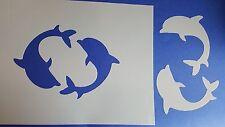 Schablone 292 Delfine Wandtattoo Stencil Leinwand Textilgestaltung Airbrush Meer