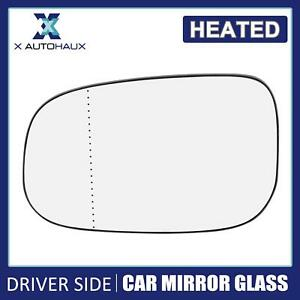 Left Driver Side Mirror Glass Aspherical w Backing for Volvo C30 C70 S40 S60 S80