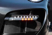 Porsche 911 997 Turbo Techart LED DRL Black Signal Flasher Lights