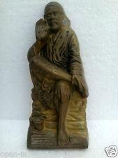 """Shirdi Sai Baba Brass Statue Hindu Decor Idol God Lord - 10.6"""" Diwali"""