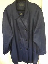 Designs & Co LANE BRYANT Women's All Weather Coat Jacket Navy Plus Size 26/28 -