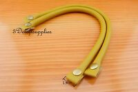 Purse leather handles handbag handle bag handle 13 3/4 inch a pair yellow CK62C