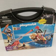 NEW Playmobil Treasure Island Boat Pirate Soldier Weapons Figures 5894 Case