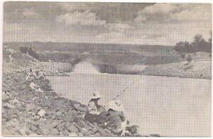 Postcard MS Sardis Dam Lake Chute Fishing Catfish, Panola County, Mississippi
