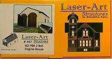 NIB HO Branchline Laser-Art #657 PRR 2 Bay Engine House Kit