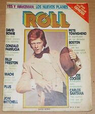 DAVID BOWIE on Cover + Review Argentine Vintage Rock Magazine YES THE WHO