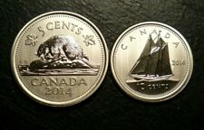 RARE! CANADA 2014 *SPECIMEN* 5 CENTS & 10 CENTS - FROM RCM SET